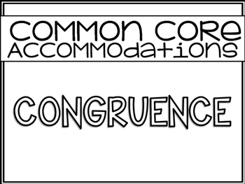 Common Core Accommodations *Cheat Sheet* {High School Geometry}