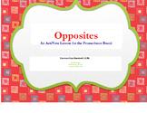 Common Core ActiVote Lesson on OPPOSITES for the Promethean Board