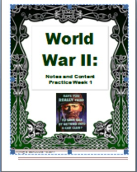 Common Core: Activating or Summarizing Strategy for World War II