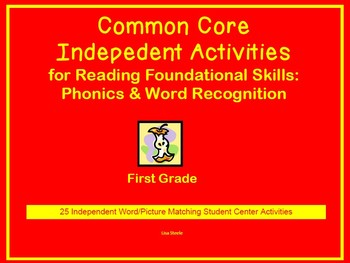 Common Core  Activities for Phonics & Word Recognition for 1st Grade