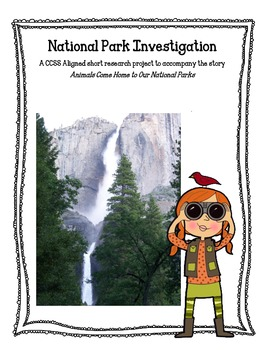 Common Core Activities to Accompany Animals Come Home to Our National Parks
