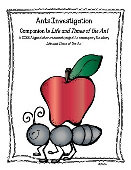Common Core Activities to Accompany Life and Times of the Ant
