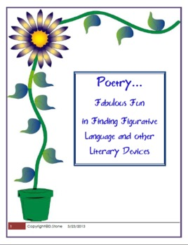 Common Core Activity:  Analyzing Poetry for Figurative Language