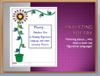 Common Core Activity:  Analyzing Poetry for Figurative Lan