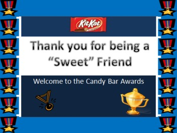 Common Core Activity:  Candy Bar Awards Ceremony Ppt