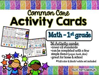 Common Core Activity Cards Math - 1st grade