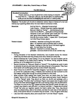Common Core Activity Pack #2 Gr. 6-12- Anchor Reading (central idea/theme)