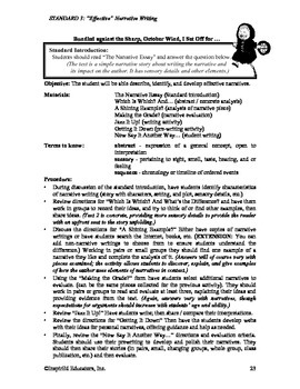Common Core Activity Pack #3 Gr. 6-12- Anchor Writing (writing narratives)
