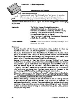 Common Core Activity Pack #5 Gr. 6-12- Anchor Writing (writing process)