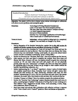 Common Core Activity Pack #6 Gr. 3-5 Anchor Writing (use of technology)