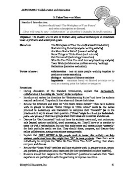 Common Core Activity Pack #6 Gr. 6-12- Anchor Writing (collaborative writing)