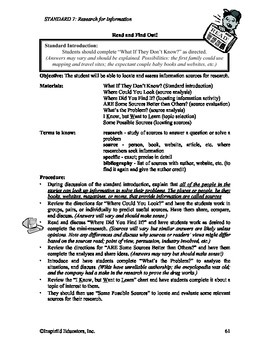 Common Core Activity Pack #7 Gr. 3-5 Anchor Writing (research for writing)