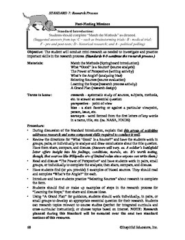 Common Core Activity Pack #7 Gr. 6-12- Anchor Writing (the research process)