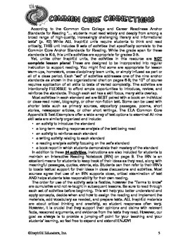 Common Core Activity Pack #8 Gr. 3-5 - Anchor Reading (eva