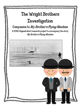 Common Core Activity to Accompany My Brothers' Flying Machine