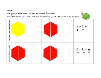 Common Core Adding Fractions with Unlike Denominators
