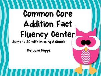 Common Core Addition Fact Fluency Center