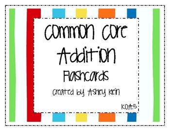 Common Core Addition Flashcards K.OA.5