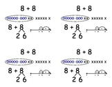 Common Core Addition Flashcards - adding eight