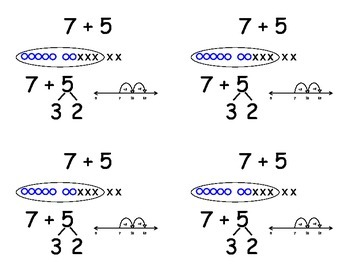 Common Core Addition Flashcards - adding six and seven
