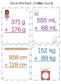 Addition using Units of Measurement: CCSS Aligned