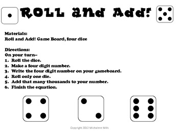 Common Core Addition Strategies using Place value with Games
