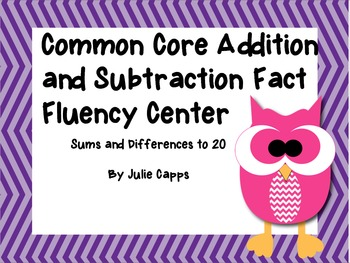 Common Core Addition & Subtraction Fact Fluency Center