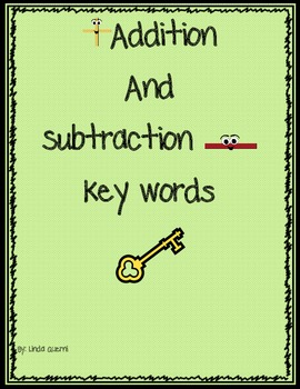 "Common Core Addition & Subtraction Word Problems ""Key Words"""