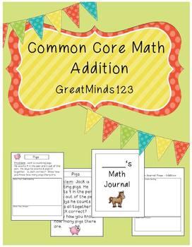 Common Core Math - Addition Unit {word problems}