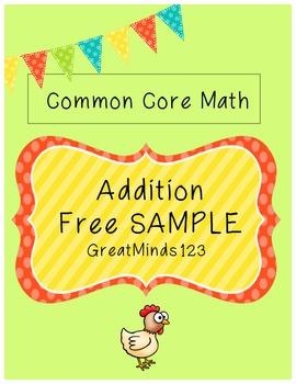 Common Core - Addition Unit {Free SAMPLE}