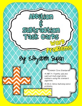 Common Core Addition and Subtraction Task Cards
