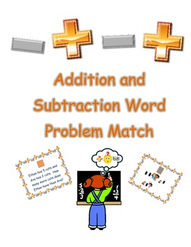 Common Core Addition and Subtraction Word Problem Match