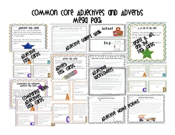 Common Core Adjective and Adverbs * Bundle*