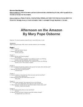 Common Core Afternoon on the Amazon