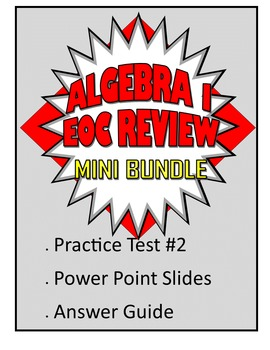 Common Core Algebra 1/Integrated 1 Practice Test 2 Mini Bundle