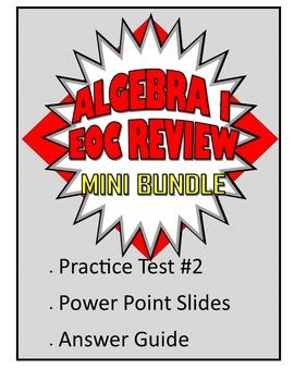 Common Core Algebra 1/Integrated 1 Practice Test 2 Mini Bundle