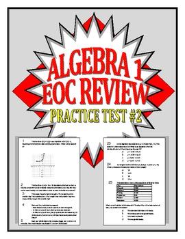 Common Core Algebra 1/Integrated 1 Practice Test #2