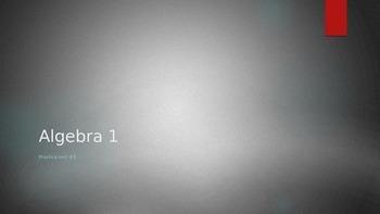 Common Core Algebra 1/Integrated 1 Practice Test #3 Power
