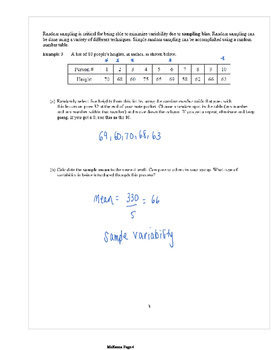 Common Core Algebra 2: Statistics Unit Packet (Answer Key)