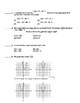 Common Core Algebra 2 Unit Assessment Transformations on  Functions