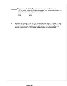 Common Core Algebra 2 Weekly 11