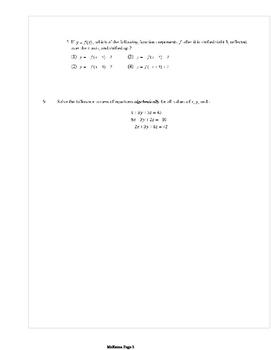 Common Core Algebra 2 Weekly 13
