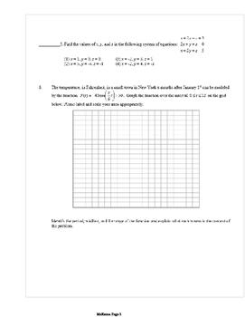 Common Core Algebra 2 Weekly 14