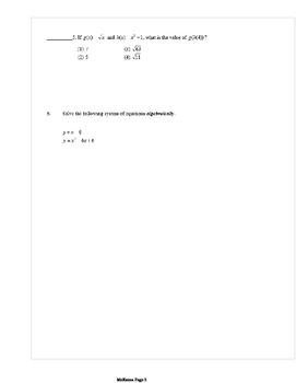 Common Core Algebra 2 Weekly 5