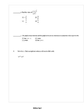 Common Core Algebra 2 Weekly 6