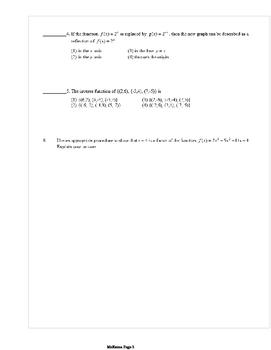 Common Core Algebra 2 Weekly 7