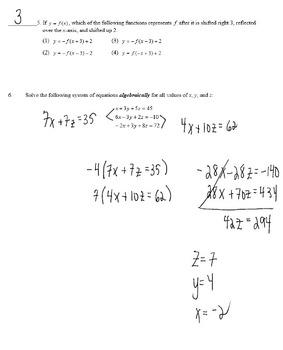 Common Core Algebra 2 Weekly 9-16