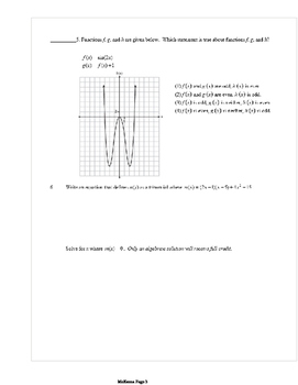 Common Core Algebra 2 Weekly 9