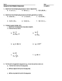Common Core Algebra End of Module 3 Review Packet