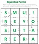 Common Core - Algebraic Equations Puzzle - Including Fractions and Decimals